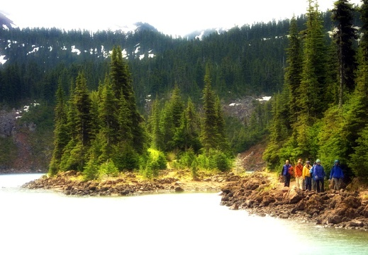 Garibaldi lake hikers